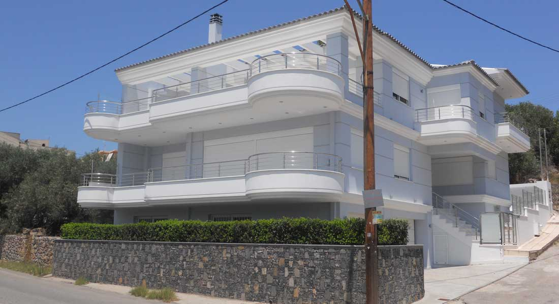 Construction of two-storey house in Chalkida